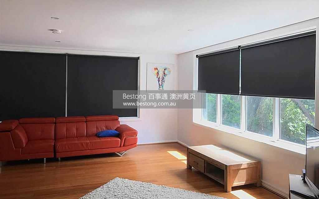 【图片 6】   Black blockout roller blinds add contract to your wall